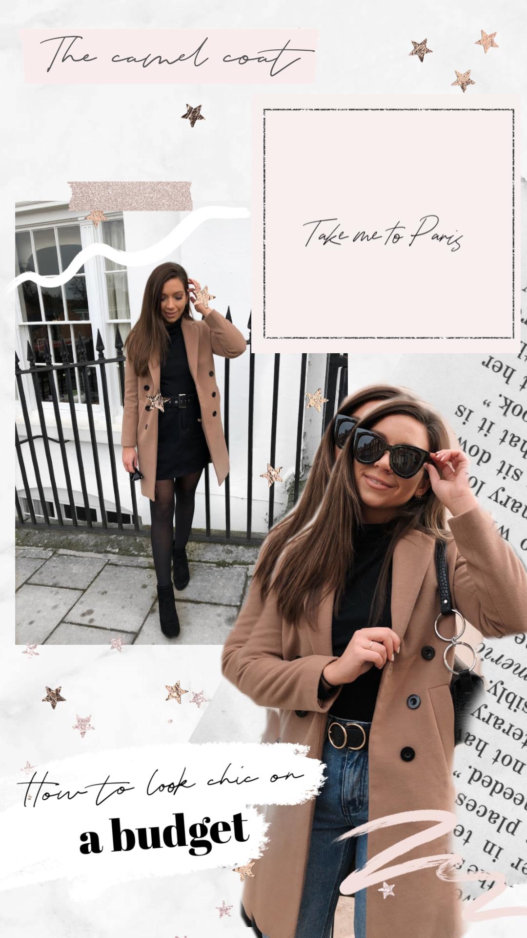 camel coat, chic coat, how to look chic on a budget, boohoo camel coat