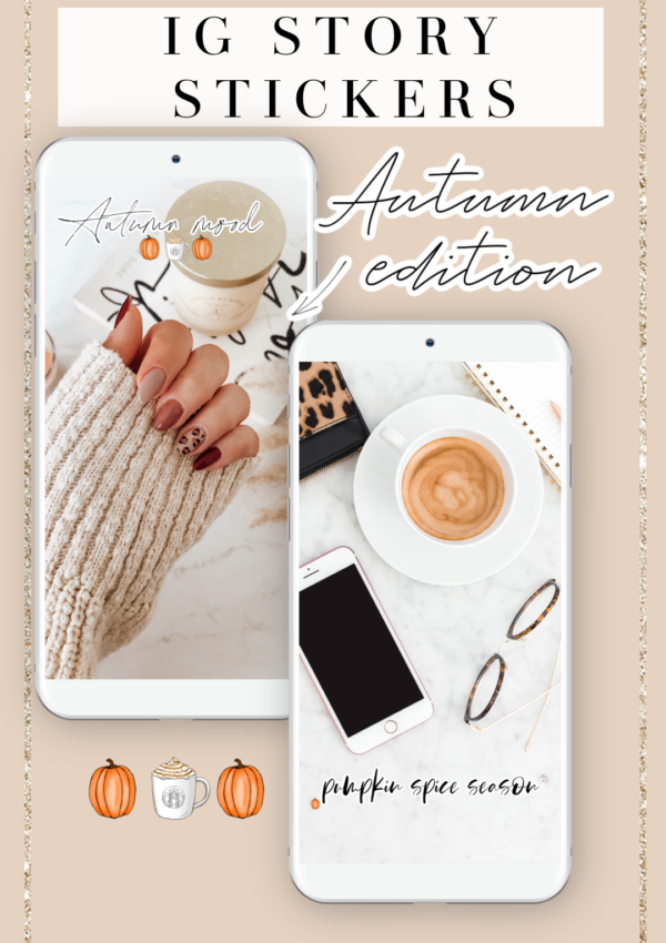 autumn ig story stickers, ig story stickers,